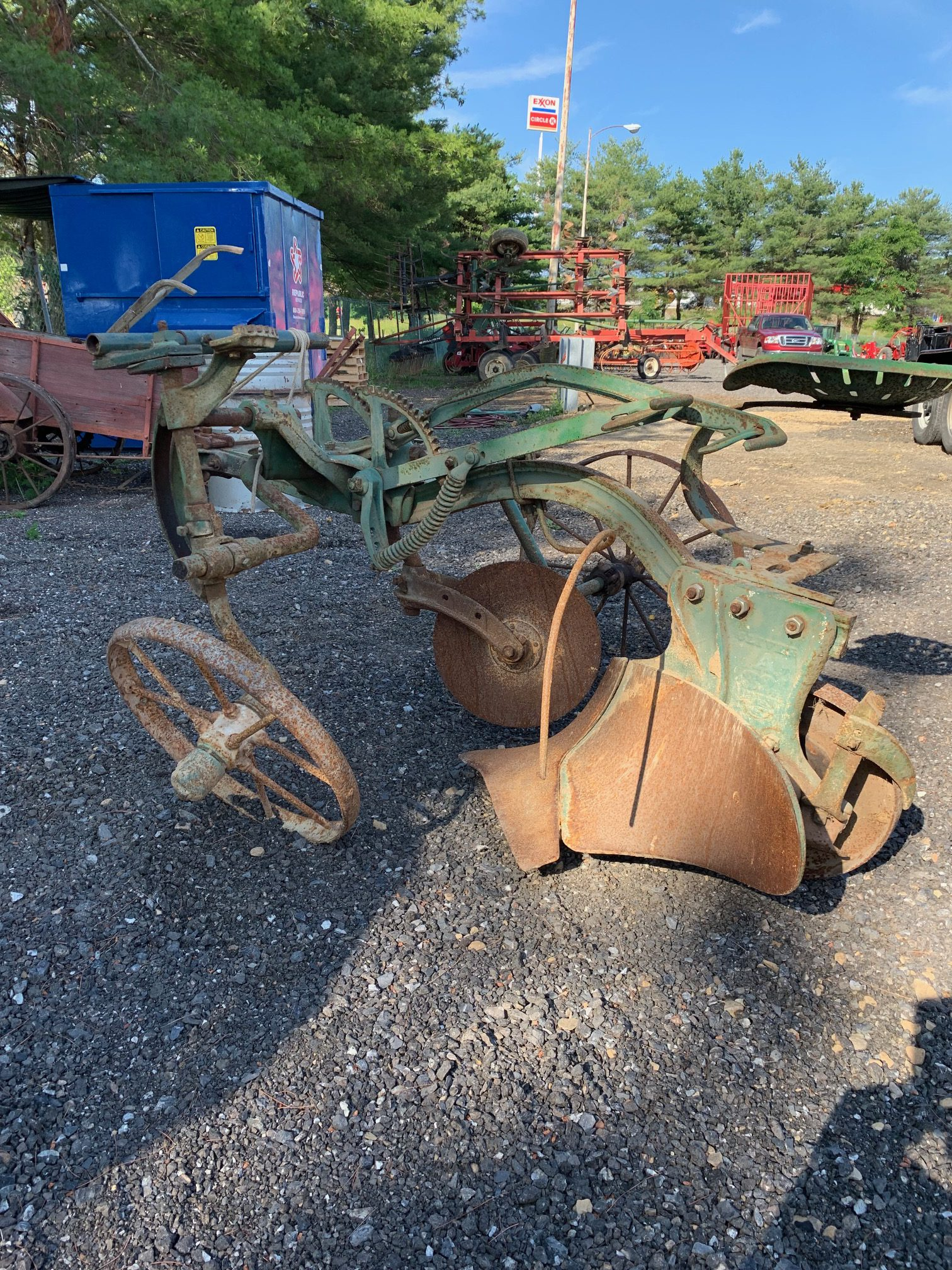 Oliver Horse Drawn Plow Image
