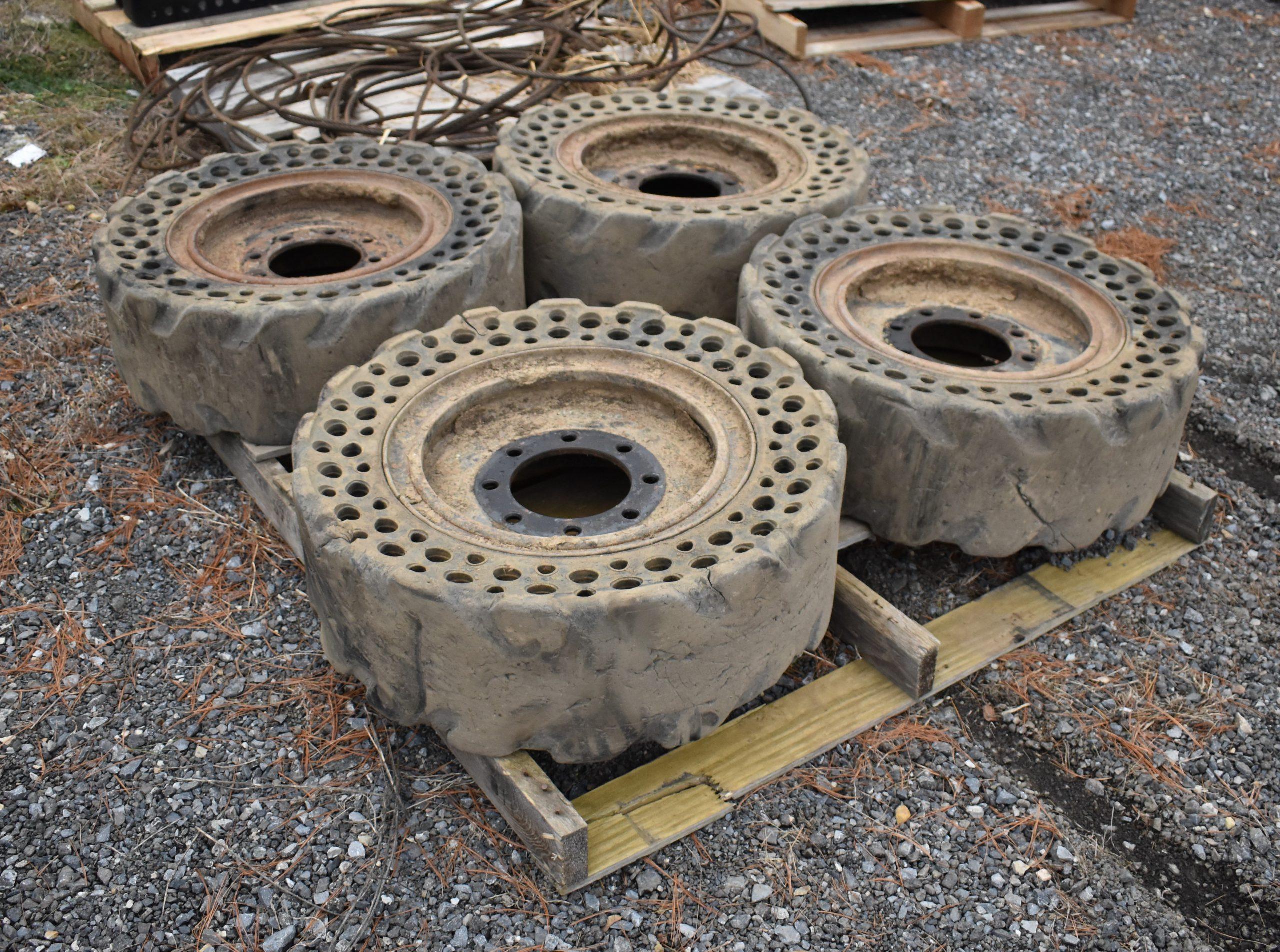 Solid Skid Steer Tires Image